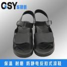黑色反扣式凉鞋